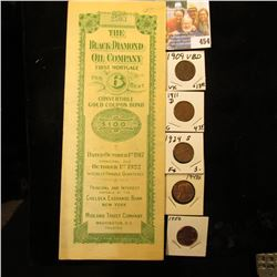 """October 1st, 1917 """"The Black Diamond Oil Company First Mortgage 6 Per Cent Convertible Gold Coupon B"""