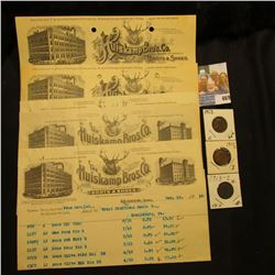 """1906-1912 Invoices from """"Huiskamp Bros. Wholesale Manufacturers and Dealers in Boots and Shoes, Keok"""