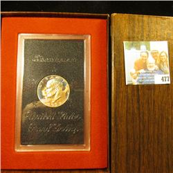 1973 S U.S. Proof Eisenhower Silver Dollar in original Government box.