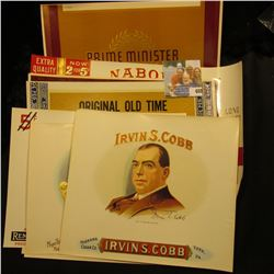 (10) Different old Cigar Box Labels, most in mint condition. Very colorful.