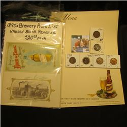 """Transfer of Liability form; Ken Schrader Post card, mint; """"Lawrence Bros. World's Fair Tour Breakfas"""
