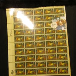 Mint sheet of 50 Eight Cent Pharmacy U.S. Postage Stamps in Mint condition. ($4.00 face value); & a
