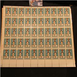 Mint sheet of 50 Four Cent Nursing U.S. Postage Stamps in Mint condition. ($2.00 face value); & a Mi