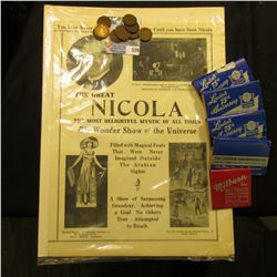 "Small group of Match Books including some from ""Louden's…Fairfield, Iowa""; brochure ""The Great Nicol"