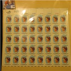 "Mint Sheet of 50 Thirteen Cent Stamps United States Postage ""Clara Maas She Gave Her Life""; & 1932 M"