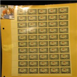 "Mint Sheet of 50 Five Cent Stamps United States Postage ""1863 International Red Cross 1963""; & 1932"