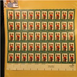"Sheet of 50 Eight Cent Stamps United States Postage ""Twas The Night Before Christmas""; & 1932 Mint S"
