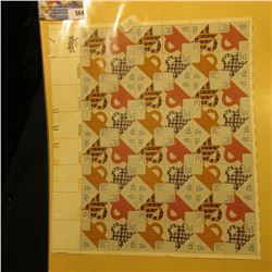 "Mint Sheet of 50 Thirteen Cent Stamps United States Postage ""Folk Art U.S.A. Quilts""; & 1932 Mint Sh"