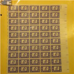 "Mint Sheet of 50 Four Cent Stamps United States Postage ""The American Woman""; & 1932 Mint Sheet of 1"