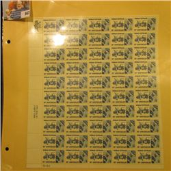 "Mint Sheet of 50 Six Cent Stamps United States Postage ""Woman Suffrage 50th Anniversary""; & (2) 1932"