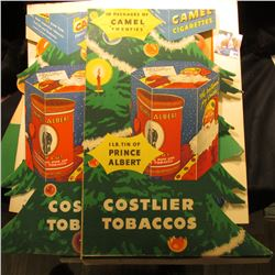 "Pair of 1950 era ""We Will carry 7up to Your Car,,,"" heavy cardboard counter stands; cardboeard Poste"