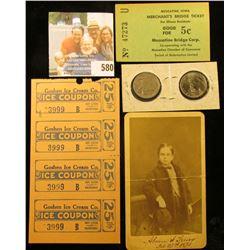 """Muscatine, Iowa Merchant's Bridge Ticket for Illinois Residents Good For 5c Muscatine Bridge Corp."