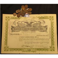 "May 11, 1914 ""Bangs Laboratories, Inc."" Incorporated Under the Laws of Delaware. This company was fa"