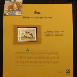 1998 Idaho Migratory Waterfowl $6.50 Stamp depicting a flock of Canada Geese, Mint, unsigned, in vin