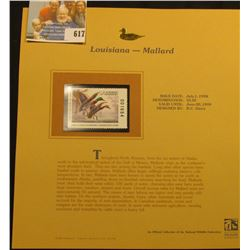 1998 Louisiana Waterfowl $5.50 Stamp depicting a pair of Mallard Ducks, Mint, unsigned, in vinyl pag