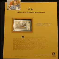 1998 Nevada Waterfowl $5.00 Stamp depicting a pair of Hooded Merganser, Mint, unsigned, in vinyl pag