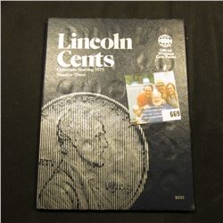 1975-2004 Partial Set of Lincoln Cents in a blue Whitman folder. Includes many BU specimens.