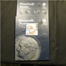 Pair of 1965 up Whitman Coin Folders for Roosevelt Dimes containing 65 coins.