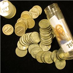 (35) 1943 WW II era U.S. Steel Cents in a plastic tube; & (10) 1930 era Silver Mercury Dimes.