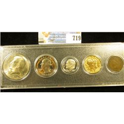 Five-Piece Coin Set in a Snaptight case, includes: 1907 Indian Cent, Fine; 1912 D Gold-Plated 'Racke