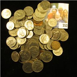 Approximately $10 face value in old unsorted U.S, coins including Silver.