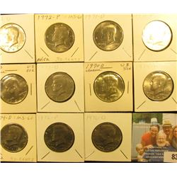 1970 D (Silver) BU, 71 P, D, 72 P, D, 73 P, D, 74P, D, 76P & D Kennedy Half Dollars, most of which a
