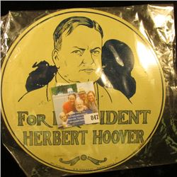 "1928 License Plate Attachment ""For President Herbert Hoover"""