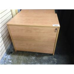 MAPLE 2 DRAWER LATERAL FILE CABINET