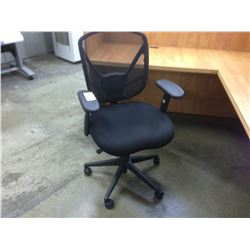 BLACK MESH BACK FULLY ADJUSTABLE MID BACK TASK CHAIR