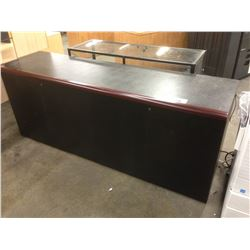 BLACK MAHOGANY EDGE 6' FOUR DOOR CREDENZA