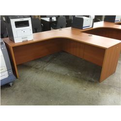 LIGHT CHERRY 6' X 6' CORNER COMPUTER DESK