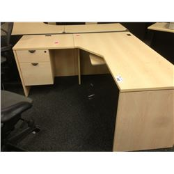 MAPLE 5.5' X 5.5' CORNER COMPUTER DESK