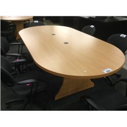 MAPLE 8' RACETRACK BOARDROOM TABLE