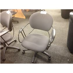 STEELCASE UNO MID-BACK TASK CHAIR, MISSING RIGHT ARM PAD