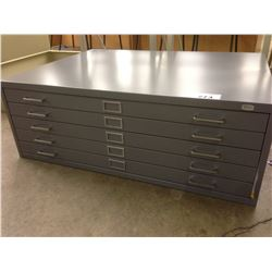 SAFCO GREY 5 DRAWER 46.5'' X 36'' PLAN FILE DRAWER, BRAND NEW, OPEN BOX