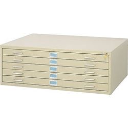 SAFCO BEIGE 5 DRAWER 46.5'' X 36'' PLAN FILE DRAWER, BRAND NEW, IN BOX NO LOCK