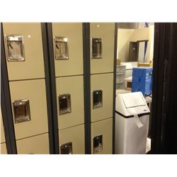 BANK OF 8 1/4 HEIGHT LOCKERS, BEIGE