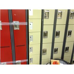 BANK OF 6 CUBBY LOCKERS, BEIGE