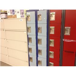 BANK OF 12 CUBBY LOCKERS, BLUE