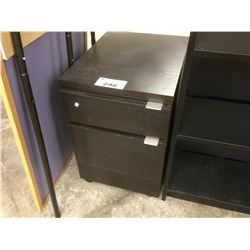 BLACK 2 DRAWER MOBILE PEDESTAL