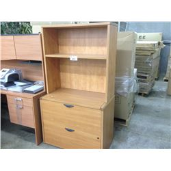 MAPLE 2 DRAWER LATERAL FILE CABINET WITH SHELF