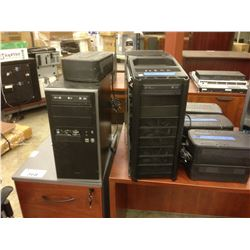 LOT OF DESKTOP COMPUTERS, MONITORS, UPS BATTERY BACKUPS AND MORE *MUST TAKE ALL*
