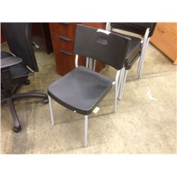 BLACK STACKING SIDE CHAIR