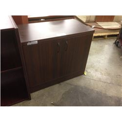 "MAHOGANY 36"" DOUBLE DOOR CABINET"