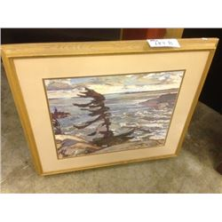 "FRAMED ARTWORK ""STORMY WEATHER GEORGIAN BAY"" BY FREDERICK VARLEY"