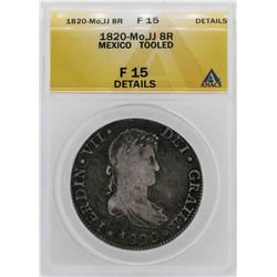 1820-Mo Mexico 8 Reales Coin ANACS F15 Details