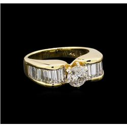 1.54 ctw Diamond Ring - 14KT Yellow Gold
