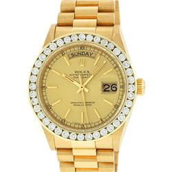 Rolex 18KT Gold President 3.00 ctw Diamond DayDate Men's Watch