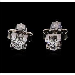 0.24 ctw Diamond Earrings - 14KT White Gold