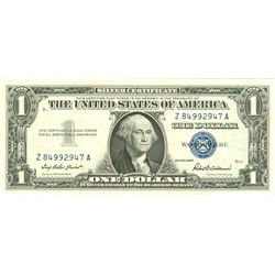$1 XF/AV Silver Certificate Currency